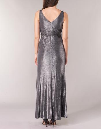 Robes Lauren Femme Longues Evening Dress Ralph Argenté Sleeveless Vêtements Gris Gunmetal QtxrhdCs