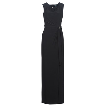 Vêtements Femme Robes longues Lauren Ralph Lauren CAP SLEEVE JERSEY EVENING DRESS Noir