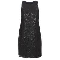 Vêtements Femme Robes courtes Button-trim Crepe Dress SEQUINED SLEEVELESS DRESS Noir