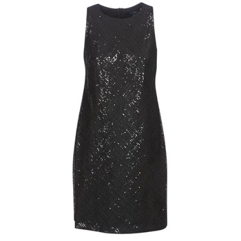 Vêtements Femme Robes courtes Lauren Ralph Lauren SEQUINED SLEEVELESS DRESS Noir