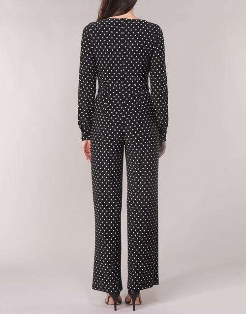 Wide Lauren CombinaisonsSalopettes Ralph Dot Polka Femme Noir Leg Blanc Jumpsuit VpLUzqGSM