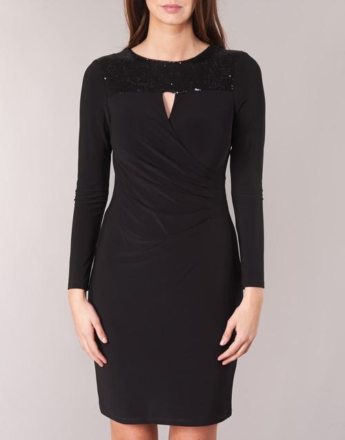 SEQUINED YOKE JERSEY DRESS  Lauren Ralph Lauren  robes courtes  femme  noir