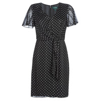 Vêtements Femme Robes courtes Lauren Ralph Lauren POLKA DOT-SHORT SLEEVE-DAY DRESS Noir
