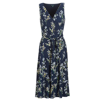 Vêtements Femme Robes longues Lauren Ralph Lauren FLORAL PRINT-SLEEVELESS-DAY DRESS Marine