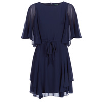Vêtements Femme Robes courtes Lauren Ralph Lauren NAVY-3/4 SLEEVE-DAY DRESS Marine