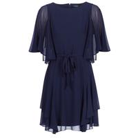 Vêtements Femme Robes courtes Button-trim Crepe Dress NAVY-3/4 SLEEVE-DAY DRESS Marine
