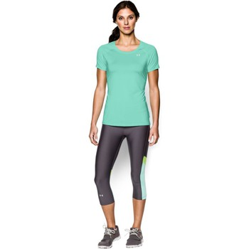 Vêtements Femme T-shirts manches courtes Under Armour Alpha Stripe SS Crystal