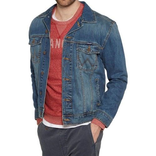 Vêtements Homme Vestes en jean Wrangler Blouson en jeans H Bleu Bleu