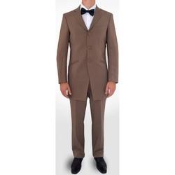 Vêtements Homme Costumes  Kebello Costume Redingote H Beige Beige