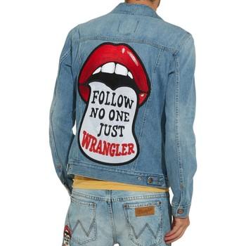 Vêtements Homme Vestes en jean Wrangler Vetse en jeans H Bleu Bleu