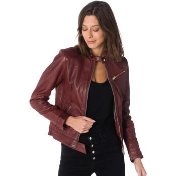 Vêtements Femme Vestes en cuir / synthétiques Cityzen ARA RED Rouge