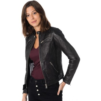 Vêtements Femme Vestes en cuir / synthétiques Cityzen ARA BLACK Noir
