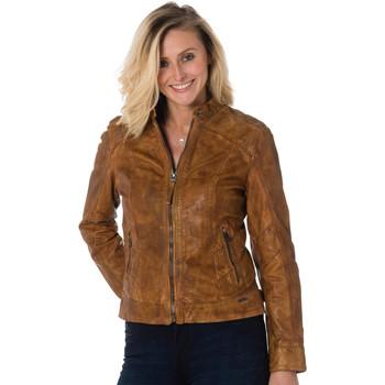 Vêtements Femme Vestes en cuir / synthétiques Cityzen TRANI COGNAC Cognac