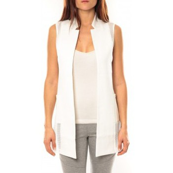 Gilets / Cardigans Vera & Lucy Gilet Lucce LC-7012 Blanc