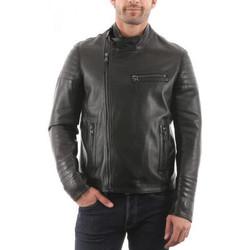 Vêtements Homme Vestes en cuir / synthétiques Giorgio Javier Waxy Noir Noir