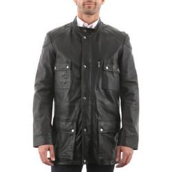 Vêtements Homme Vestes en cuir / synthétiques Giorgio Maxent AGORA Noir Noir