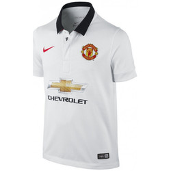 Vêtements Homme Polos manches courtes Nike Maillot de football  Manchester United Stadium Away 2014/2015 - Blanc