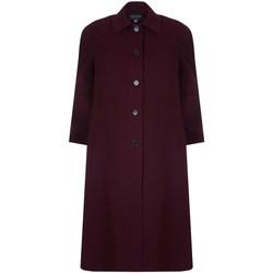 Vêtements Femme Manteaux David Barry Long manteau d'hiver femme en laine et cachemire rouge