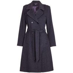 Vêtements Femme Trenchs De La Creme Trench-coat militaire long en laine et cachemire Grey