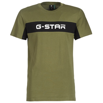 d4bd9f91b Vêtements Homme T-shirts manches courtes G-Star Raw GRAPHIC 80 R T Vert /