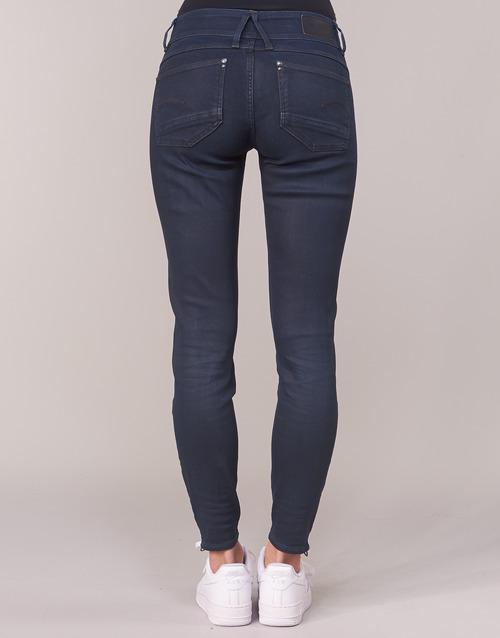 Ankle Cobler Mid Skinny G Femme Bleu Dark Jeans star Raw Aged Lynn Zip 8Pn0kwO