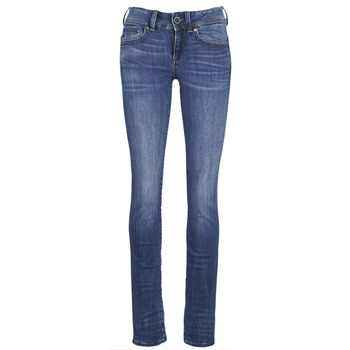 Vêtements Femme Jeans droit G-Star Raw MIDGE SADDLE MID STRAIGHT Bleu Medium Indigo Aged