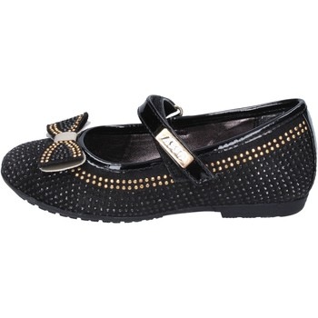 Chaussures Fille Ballerines / babies Asso chaussures fille  ballerines noir strass daim BT325 noir