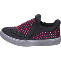 Chaussures Fille Slip ons Lulu' chaussures fille LULU' slip on noir textile strass BT332 noir