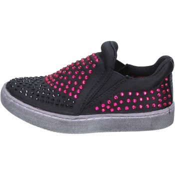 Lulu Enfant Slip On Noir Textile Strass...