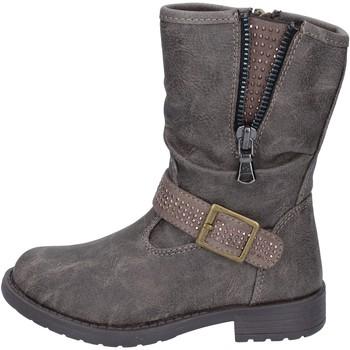 Chaussures Fille Bottines Manairons bottines gris cuir BT347 gris