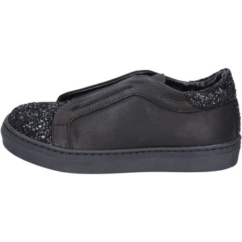 Chaussures Fille Slip ons Holalà chaussures fille  sneakers noir cuir glitter BT357 noir