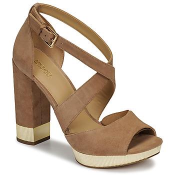 Chaussures Femme Sandales et Nu-pieds MICHAEL Michael Kors VALERIE PLATFORM Camel
