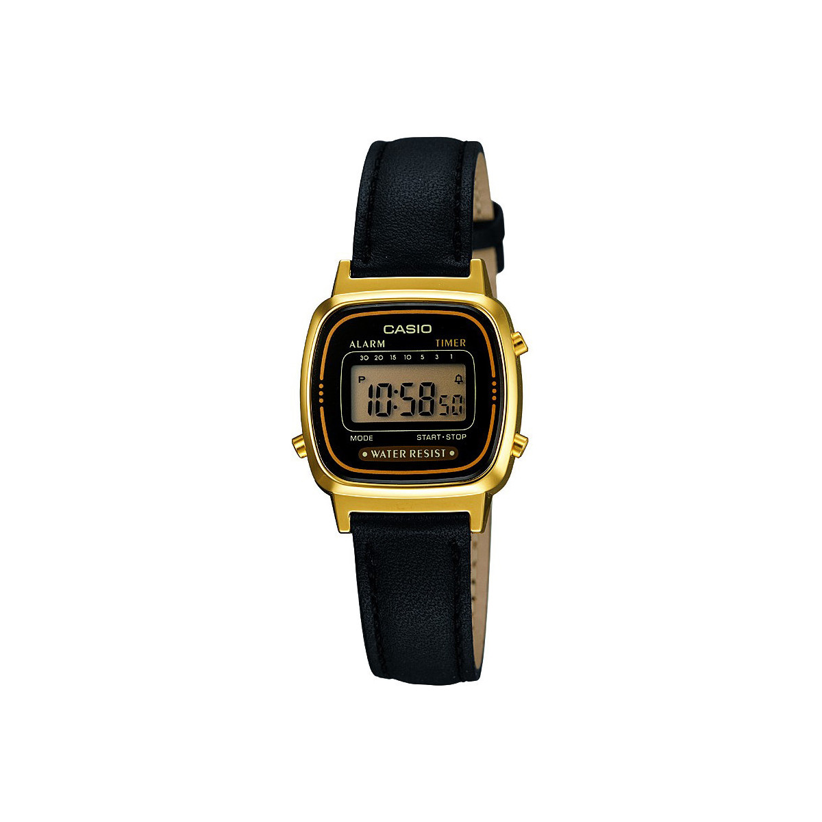 casio montre retro vintage la670wegl 1ef montre retro cuir femme montres bijoux montre. Black Bedroom Furniture Sets. Home Design Ideas