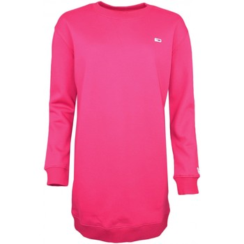 Vêtements Femme Robes Tommy Jeans Robe sweat  rouge bordeaux pour femme Rouge
