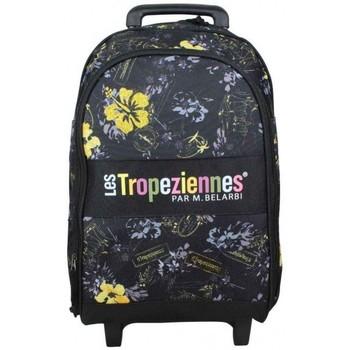 Sacs Enfant Sacs / Cartables à roulettes Les Tropéziennes par M Belarbi Sac à dos à roues Les Tropéziennes motif fleur Wissant Noir Noir