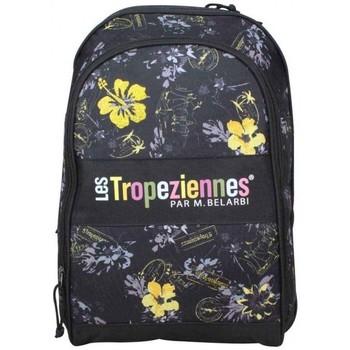Sacs Enfant Sacs à dos Les Tropéziennes par M Belarbi Sac à dos Tropéziennes motif fleur 2 poches Wissant Noir Noir