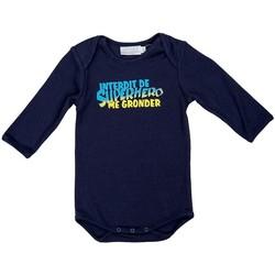 Vêtements Garçon Pyjamas / Chemises de nuit Interdit De Me Gronder PETIT HERO Bleu marine
