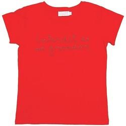 Vêtements Fille T-shirts manches courtes Interdit De Me Gronder STRASSY Rouge