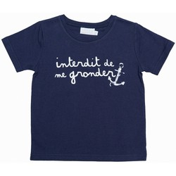 Vêtements Enfant T-shirts manches courtes Interdit De Me Gronder ANCRE Blanc
