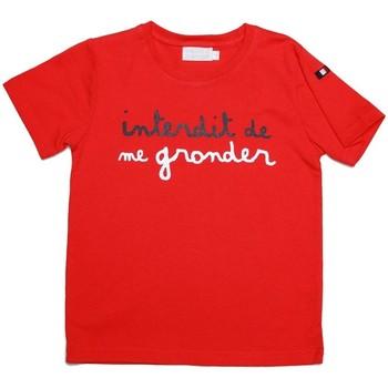 Vêtements Enfant T-shirts manches courtes Interdit De Me Gronder DUO Rouge