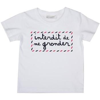 Vêtements Enfant T-shirts manches courtes Interdit De Me Gronder TRAVEl Blanc