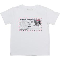 Vêtements Enfant T-shirts manches courtes Interdit De Me Gronder CARTE POSTALE Blanc
