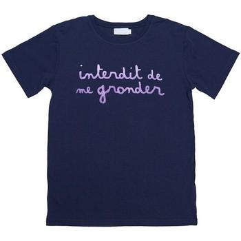 Vêtements Garçon T-shirts manches courtes Interdit De Me Gronder L'INTERDIT Violet