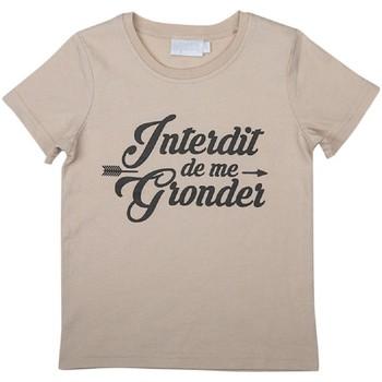 Vêtements Enfant T-shirts & Polos Interdit De Me Gronder PLUME Beige