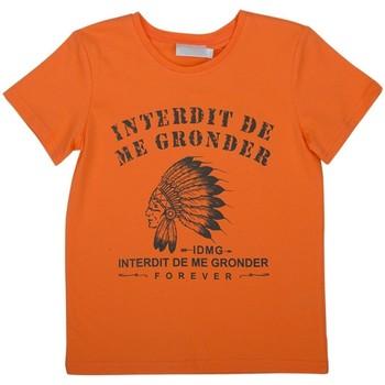 Vêtements Enfant T-shirts & Polos Interdit De Me Gronder INDIEN Marron chocolat