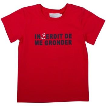 Vêtements Garçon T-shirts & Polos Interdit De Me Gronder MOUSSAILLON Bleu