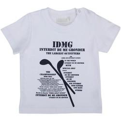 Vêtements Garçon T-shirts manches courtes Interdit De Me Gronder MATCH Blanc