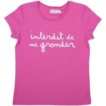 Vêtements Fille T-shirts manches courtes Interdit De Me Gronder L'INTERDIT Rose