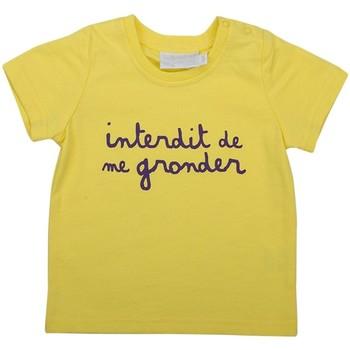 Vêtements Enfant T-shirts manches courtes Interdit De Me Gronder L'INTERDIT Jaune
