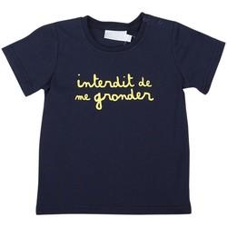 Vêtements Garçon T-shirts manches courtes Interdit De Me Gronder L'INTERDIT Bleu marine